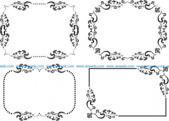 Frame and decorative pattern