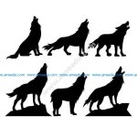 Vector wolf pattern