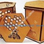 honey box laser cut