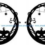 earring shaped pumpkin design with halloween pumpkin theme