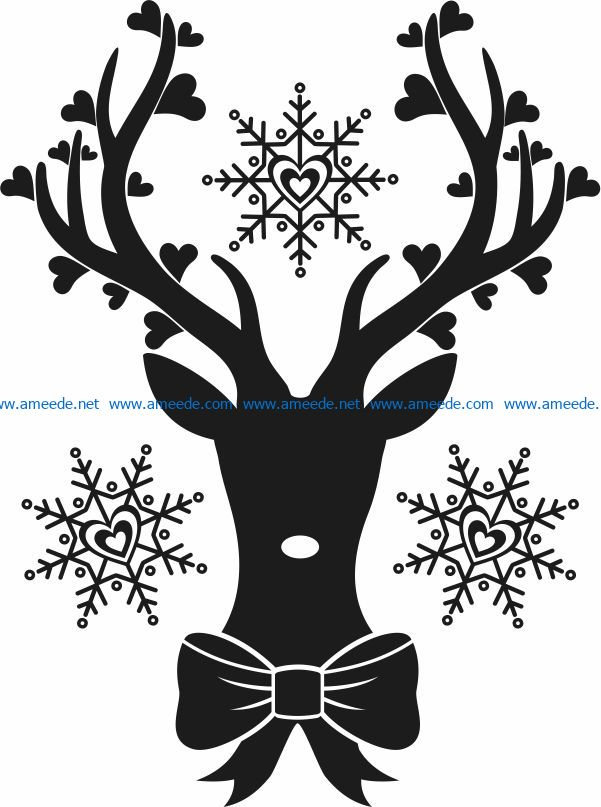 Download deer in love file cdr and dxf free vector download for ...