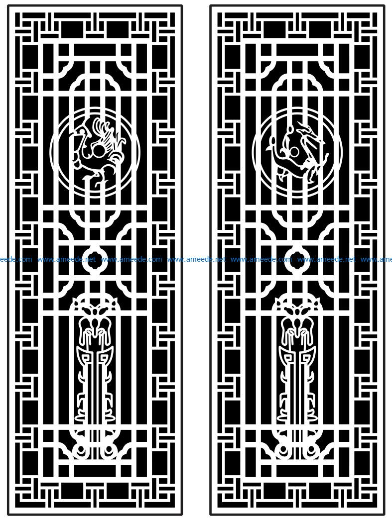 Design pattern panel screen AN00071379 file cdr and dxf free vector download for Laser cut CNC – Download Free Vector