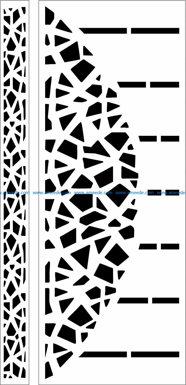 Design pattern door E0009751 file cdr and dxf free vector download for Laser cut CNC – Download Free Vector