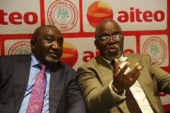 NFF President present $75,000 from AITEO Group's promised to the team