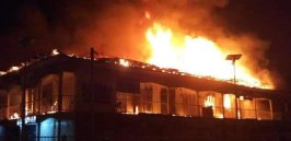 BREAKING: Traders count losses as midnight fire guts Rivers timber market