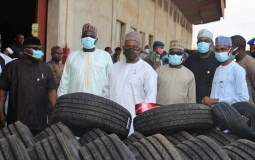 Unscrupulous importers meets Waterloo as SON uncover illegal stuffed tyres warehouse worth about N600 million