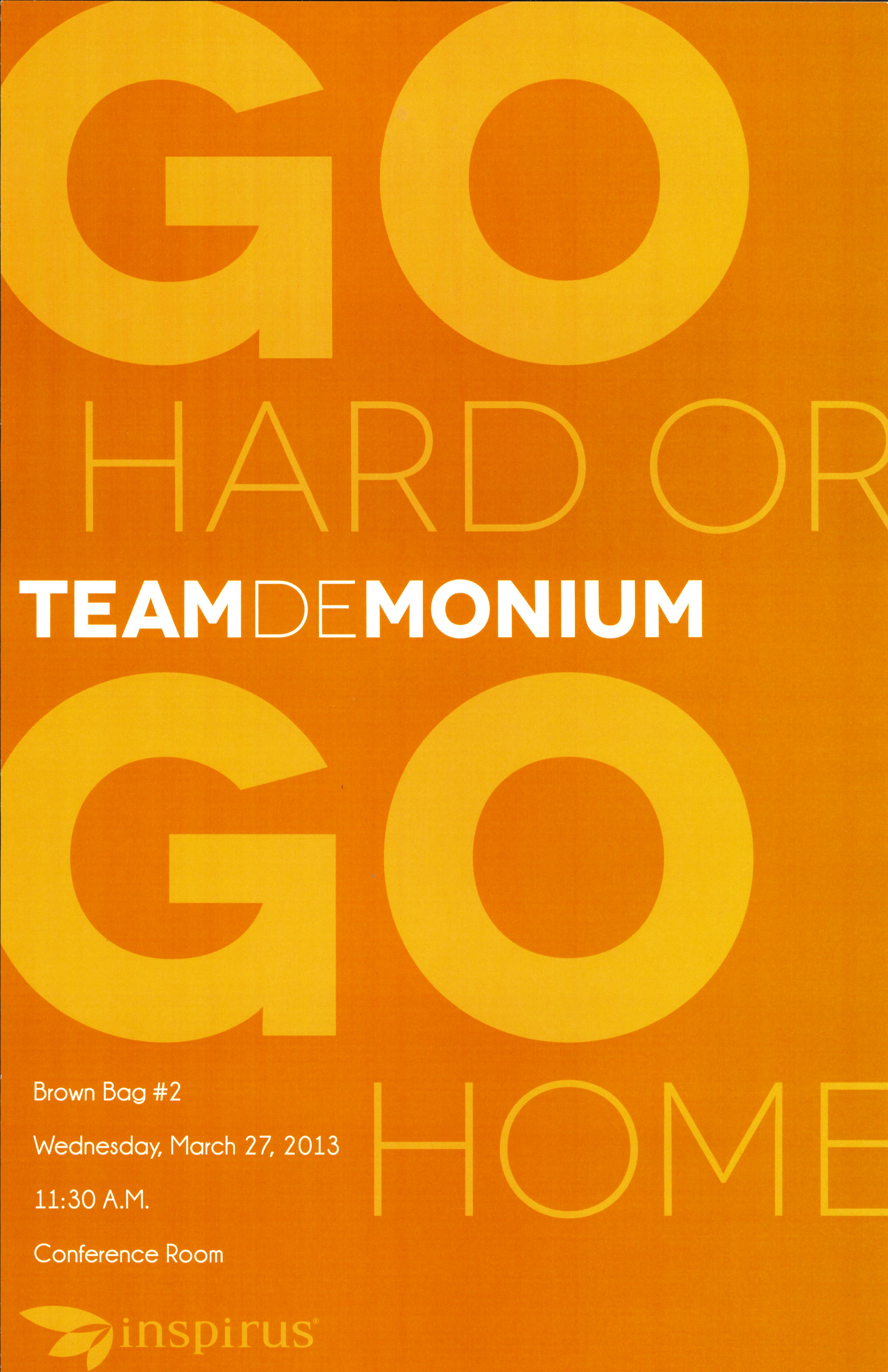 poster for an event called TeamDeMonium