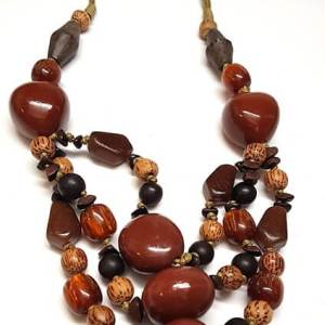 Brown wood Necklace