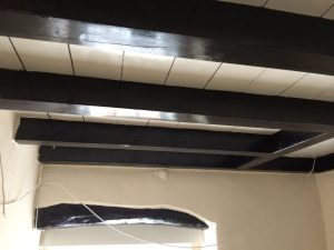 Dining room before - black gloss paint