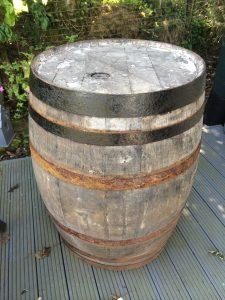 Oak whisky barrel purchased online