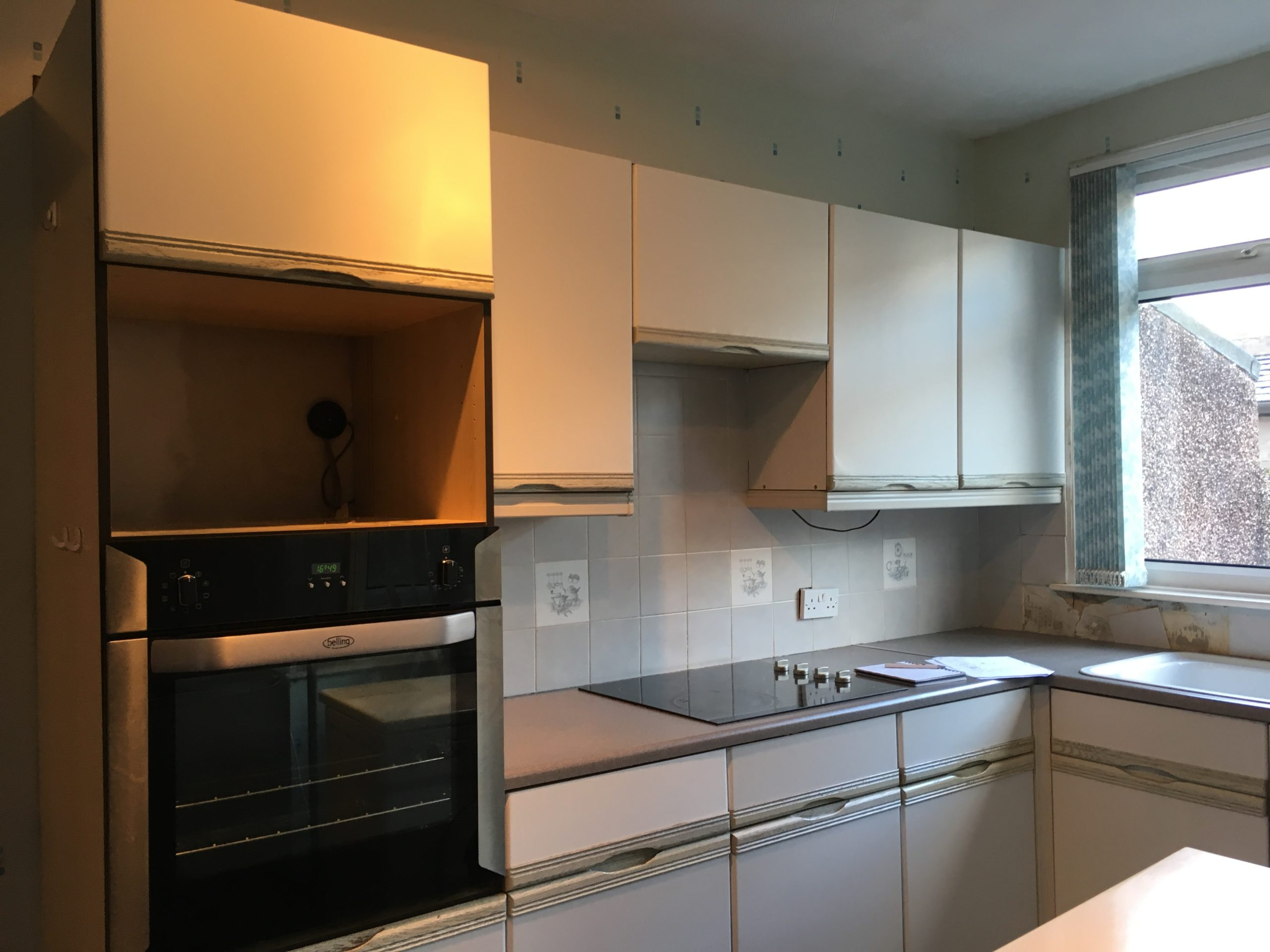 Affordable kitchen transformation before image
