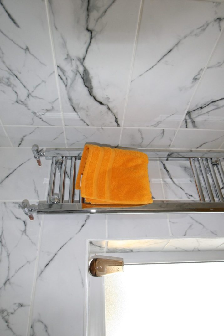 Narrow wall mounted heated towel rail from Victoriam Plumbing