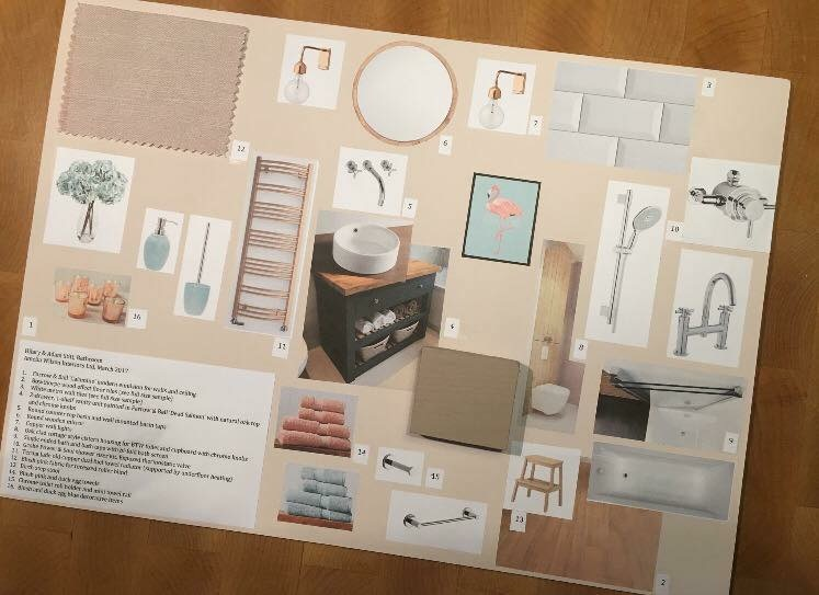 Bathrooms - Traditional moodboard for family bathroom project