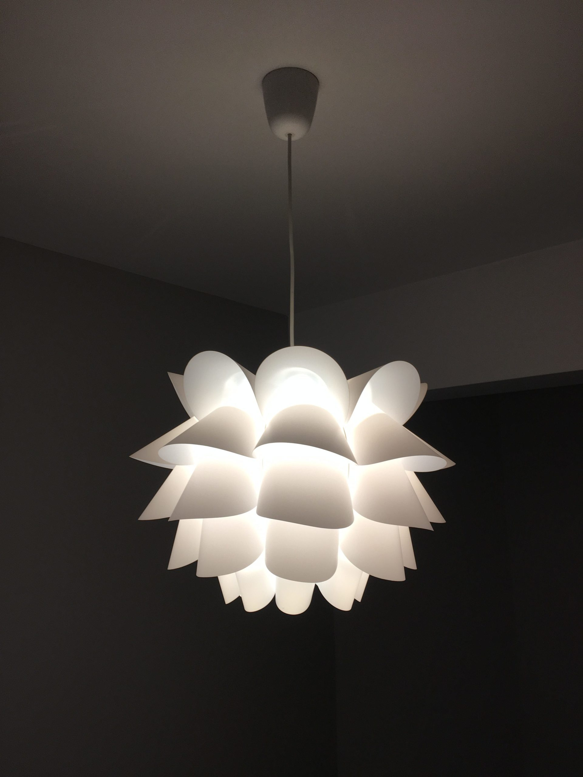 Knappa IKEA light in show home designed by Amelia Wilson Interiors Ltd