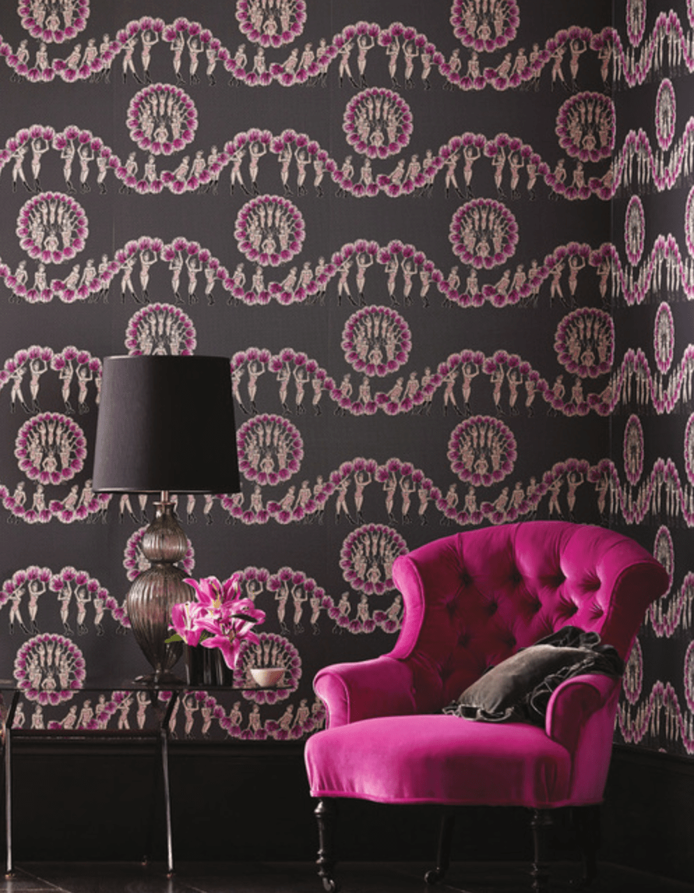Chorus Line from the Albany Performance Wallpaper Collection