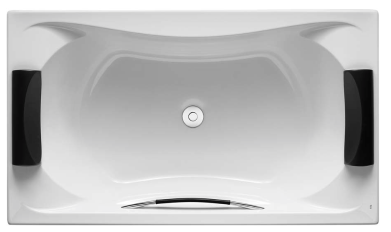 Roca Becool double ended bath with headrests and grip