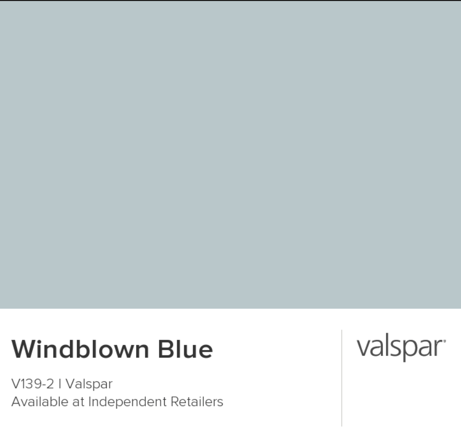 Budget Bathroom - Windblown Blue by Valspar paint