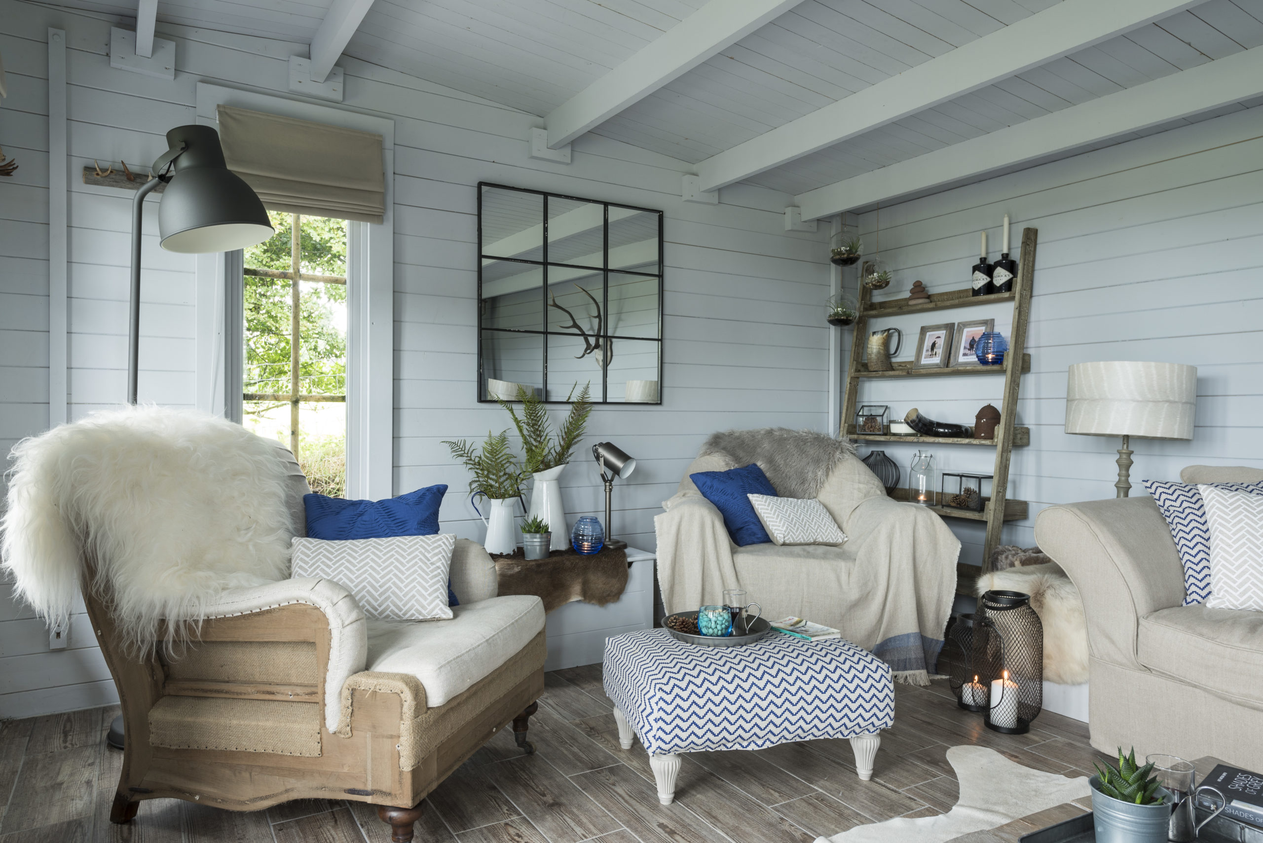 Scandinavian design nordic style summerhouse designed by Amelia Wilson Interiors