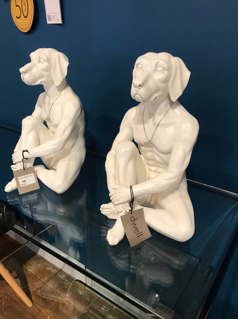 Interior design likes and dislikes dog statues from Dwell