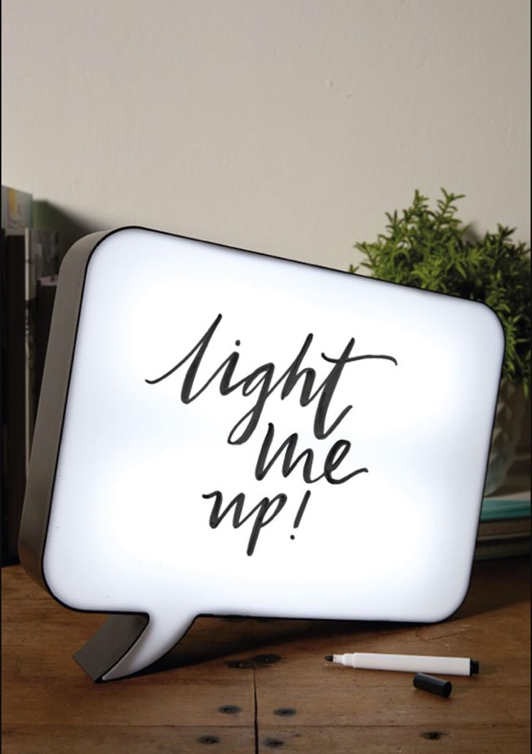 Speech bubble memo light box from Cult Furniture