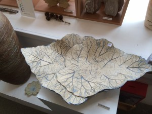 Leaf dish from Bitter Beck Pottery in Cockermouth