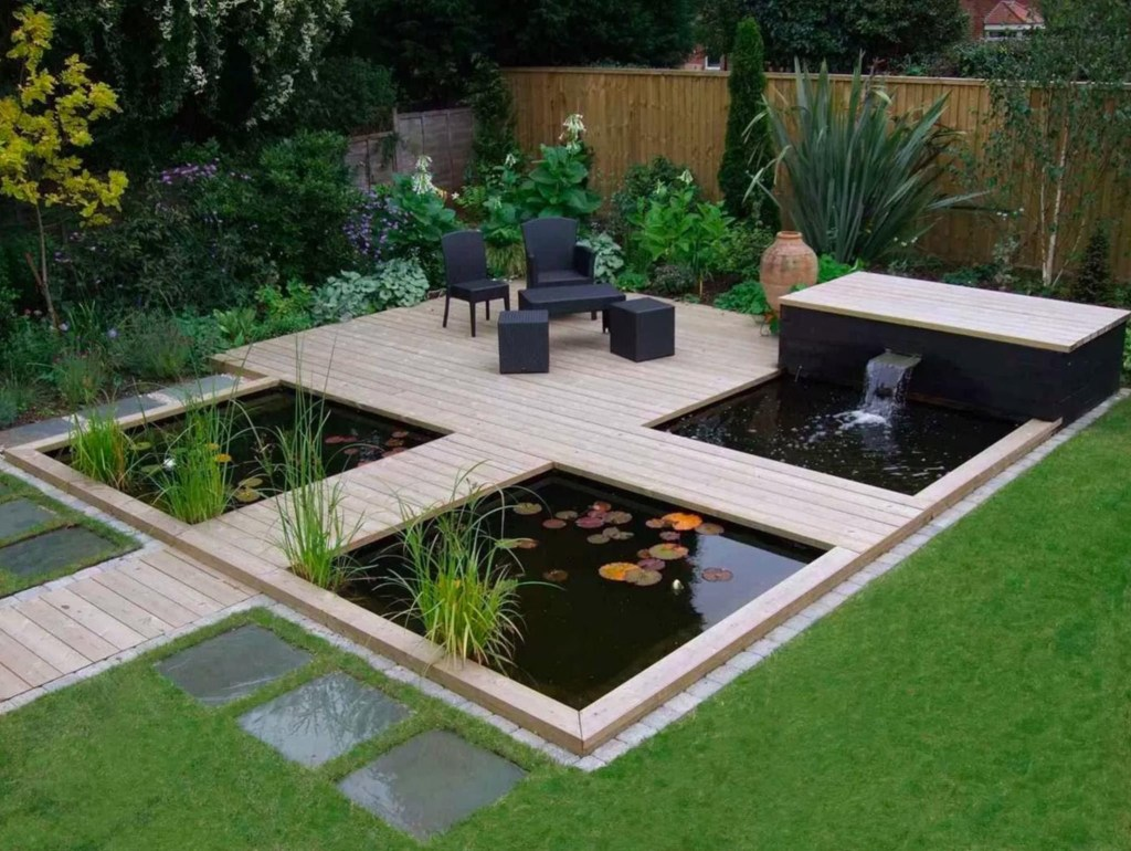 Modern Garden design with water feature