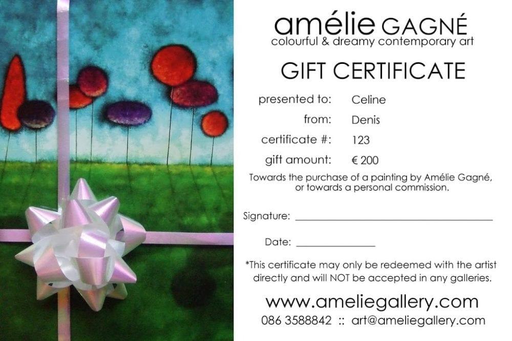 gift certificate archives amélie gagné studio