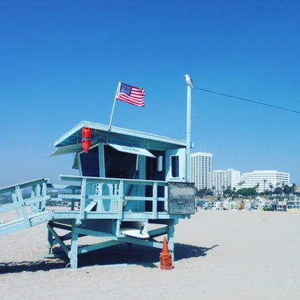 Santa Monica lifeguard Tower California