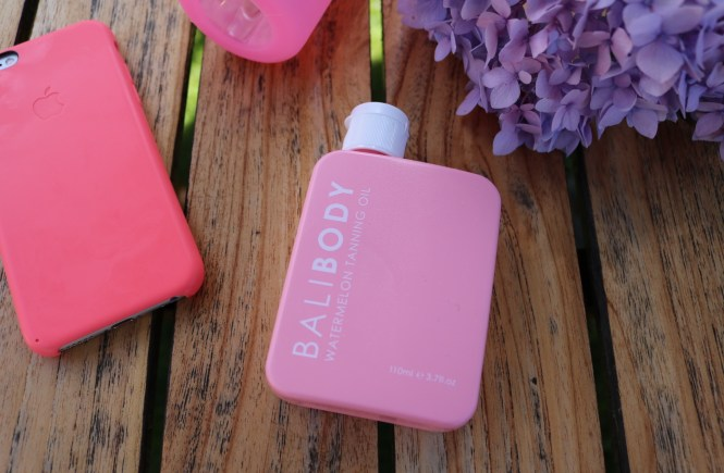 Bali Body watermelon tanning oil flat lay image