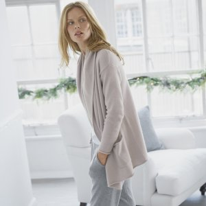The White company roll edge cardigan