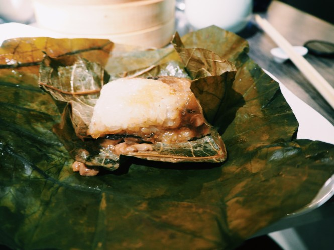 sticky rice with lotus leaf