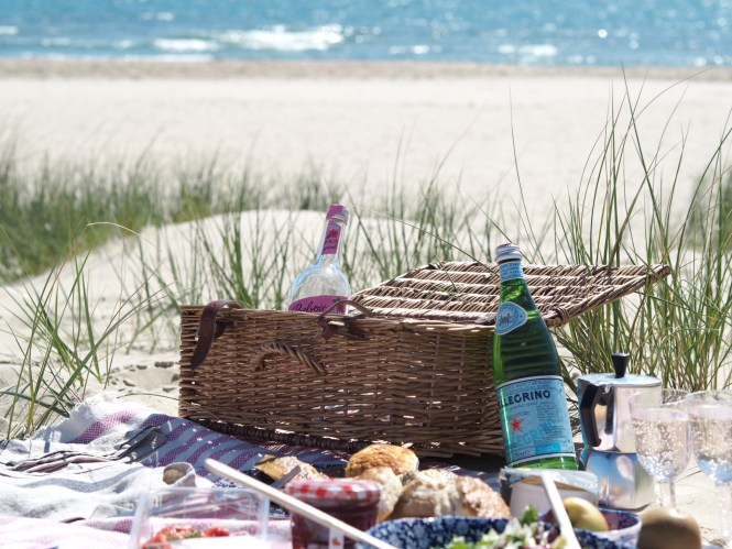 spring picnic at the beach