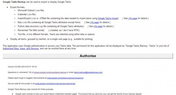 Google Tasks Backup