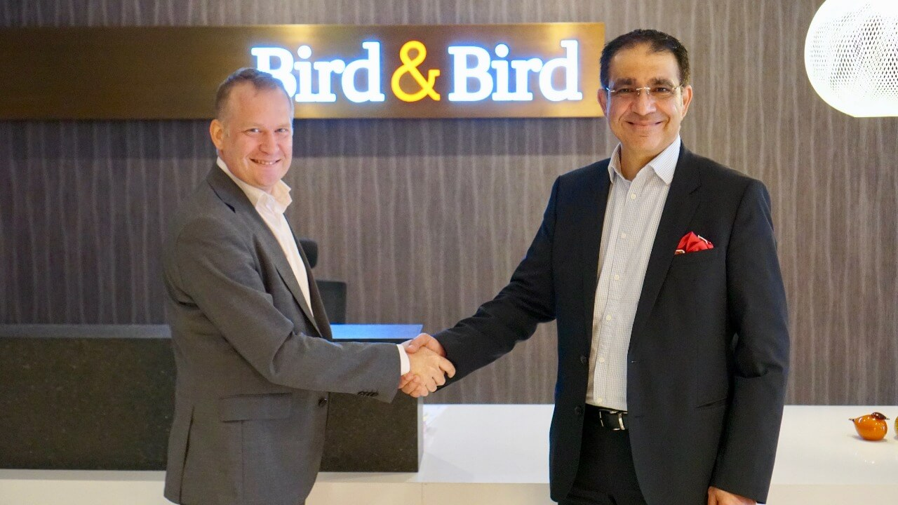 Managing Partner UAE at Bird & Bird, Anders Nilsson with Founder and Chairman of AMENA, Alan Whaley