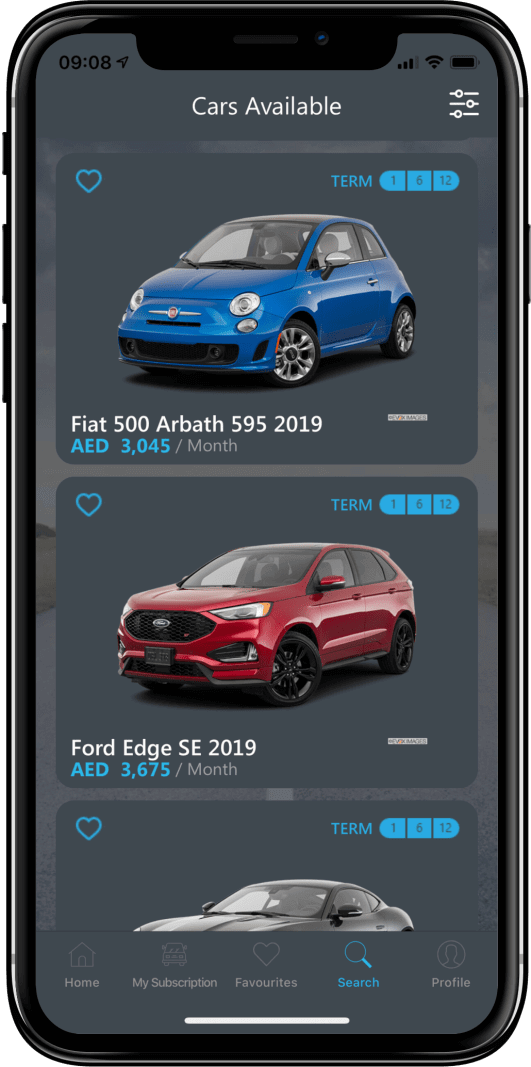 Car Subscription App in the UAE