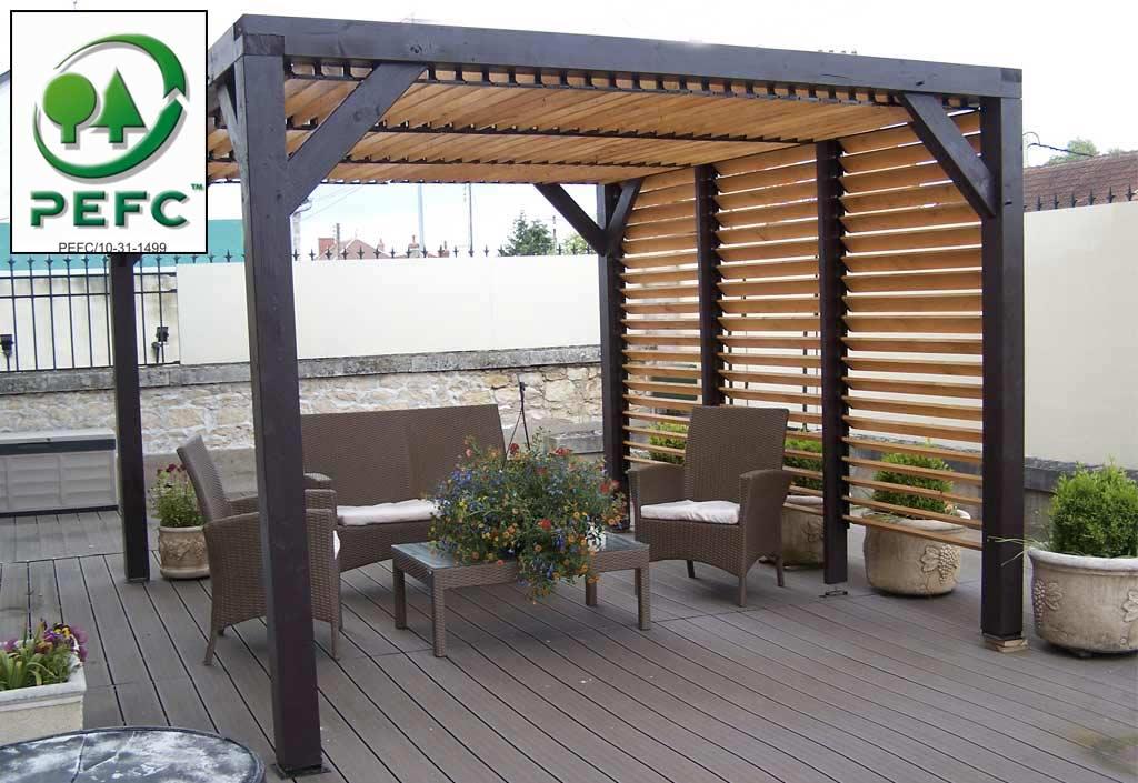 La pergola ombra lames orientables mobilier de jardin - La pergola figueres ...