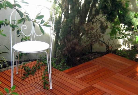 Dalles 50x50 Bois Padouk
