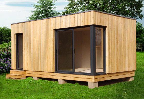 Bungalow design studio en bois livré monté