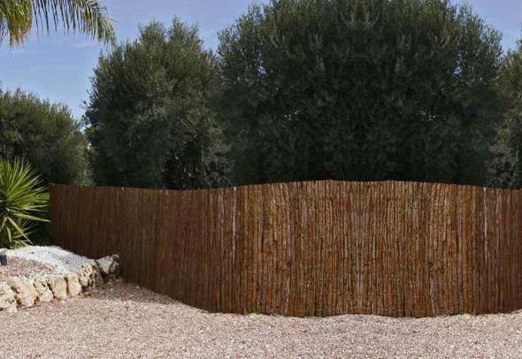 clôtures naturelles écorces pin
