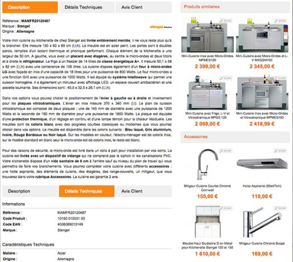 description et accessoires