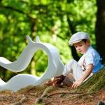 Animal à Bascule Design en Polyéthylène Blanc Enzoo