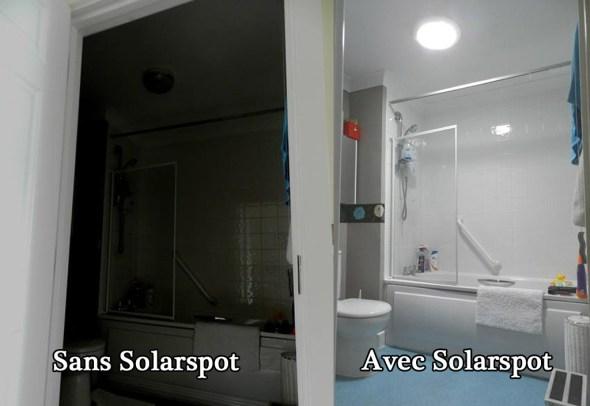 puits de lumière Solarspot Avant / Après