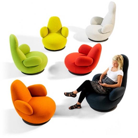 orange chair salon childrens chairs with arms fauteuil de design bla station