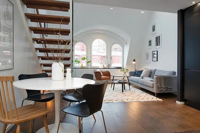 Appartement En Duplex Avec Une Dcoration Scandinave