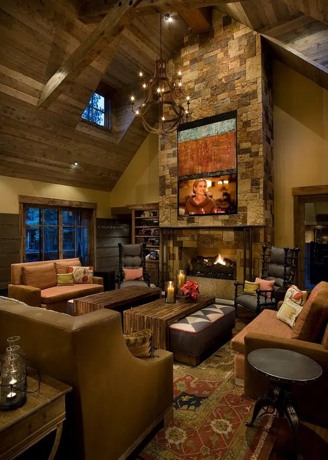 30 ides de dcoration de salon avec un style rustique
