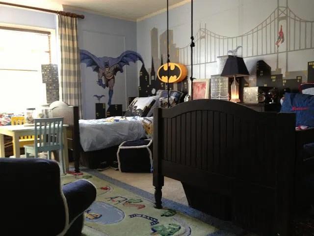 Dcoration de chambres pour enfants sur le thme de Batman