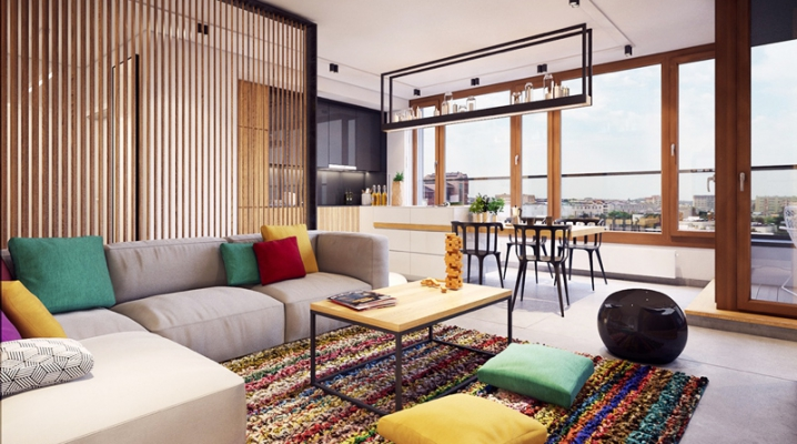 Dcorer un salon avec un tapis et coussins colors