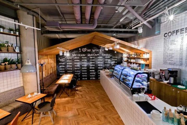 Dcoration dun caf au style industriel