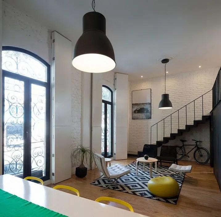 Appartement avec une dcoration industrielle et chic