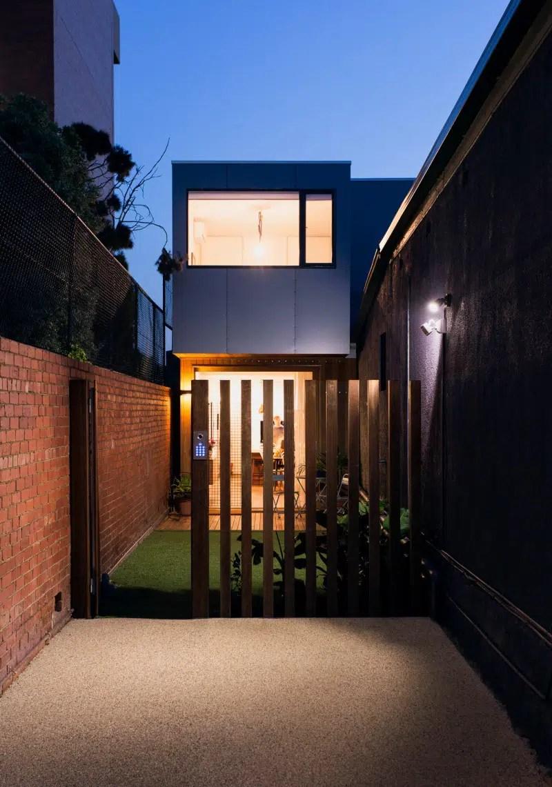 Maison prfabrique passive construite sur un terrain troit